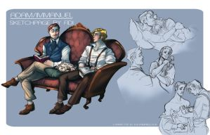 Sketchpage: Adam/Immanuel by FidisART