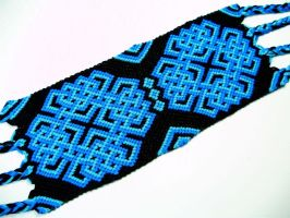 Blue and Black Celtic Knot Friendship Bracelet by QuietMischief
