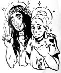 Dumb sketch of Jesus and Buddha by Vespertin0