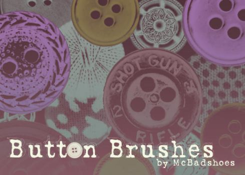 Button Brushes by mcbadshoes