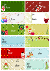 Christmas Labels - Gift Tags by wishfulrose