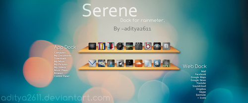 Serene | Dock for Rainmeter by aditya2611