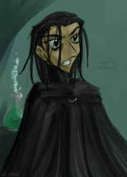 Snape in the green room by andrael