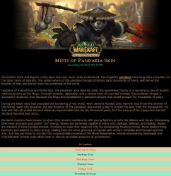 World of Warcraft - Mists of Pandaria skin by KonekoD