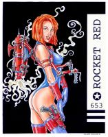 Rocket Girl by staino