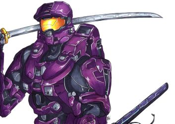 Commssion: Master Chief by Smudgeandfrank