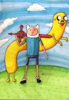Finn and Jake - $20 Character Sketch by KirbBrimstone