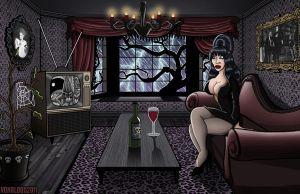 Movie Night with Elvira by vonblood