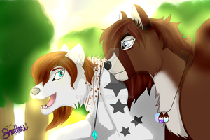 :AT: Ally and Starry by Shallur