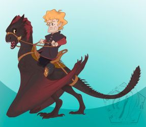 Tyrion and Drogon by SammyTorres