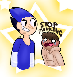 sToP tALkiNg by Punny-Trash
