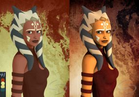 Ahsoka Tano Limited Color Palette by Crimsonight