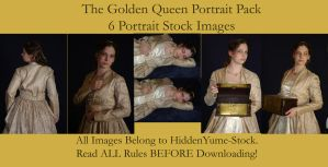 The Golden Queen Portraits by HiddenYume-stock