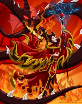 Fire Lord Maleficent by racookie3
