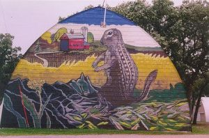 amboy mural - earth mover by pexa