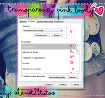 Cursor transparency pink lovely by alenet21tutos