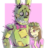 Springtrap and Deliah | FANART by Creeper2545