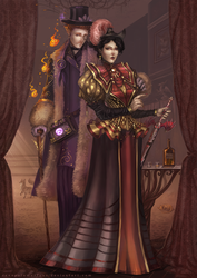 Marchioness and Snootington: Victorian Family by RenePolumorfous