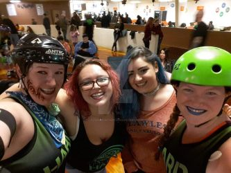 Roller Derby Ladies by CowgirlMickey