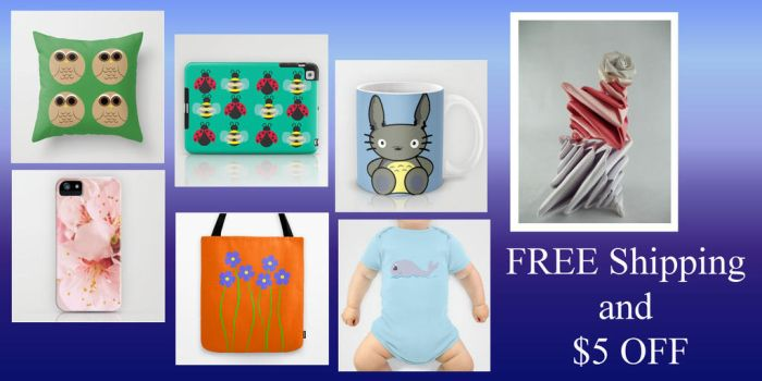FREE Shipping and $5 OFF until December 8, 2013* by DemonKourai