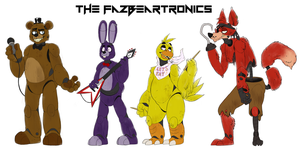 FNAF Height Chart - The Fazbeartronics by Dominos-Cat