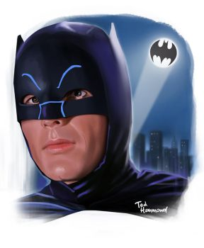 Adam West Batman by ted1air