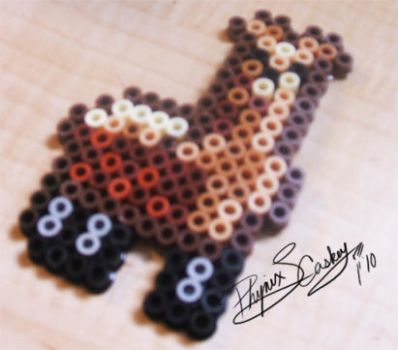 Llama Pixel badge in 3D by Phynix