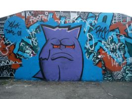 Gengar At A Park Near You by SUREGRAFFITI