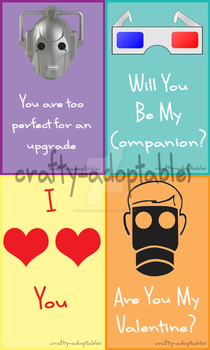 Doctor Who Valentines cards set 2 (CHEAP) by superwholock99