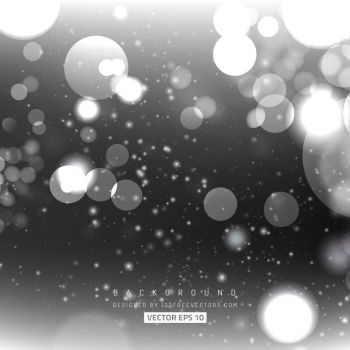 Gray Bokeh Lights Background Free Vector by 123freevectors