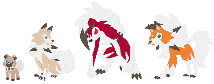 Rockruff and Lycanroc Base by SelenaEde