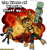 Ratchet and Clank: 10th Anniversary by QueenJulien