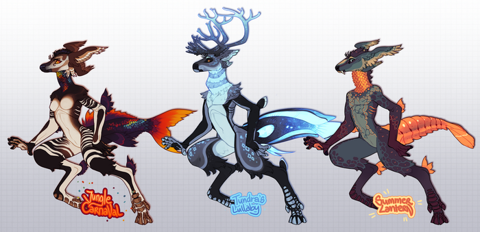 Deereon Adoptables! BATCH 2 by LiLaiRa