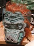 Hair punching on Ganon mask by jaredjlee