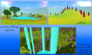 FeralHeart One Day Map Pack Challenge! by HoneyHeartStudios