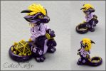 Purple Cayo Dragon - dice holder by CalicoGriffin