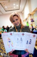 Anathiell with her Cosplay Costume Sewing Patterns