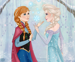 Anna and Elsa by HetteMaudit