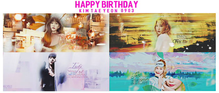 PSD HAPPY BIRTHDAY KIM TAEYEON //0903// by DomJung
