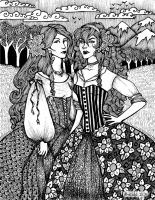 Snow White and Rose Red by Ithelda