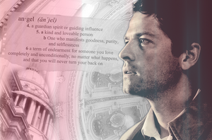 Definition angel (Castiel Wallpaper) by mistofstars