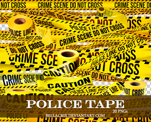 Police Tape PNGs by Bellacrix