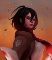 Mikasa - Attack On Titan by cosmogirll