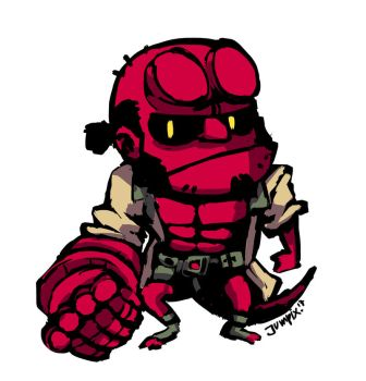 PATREON's monthly Chibi: Hellboy by Jumpix