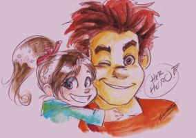 Wreck it Ralph Doodle by oasiswinds