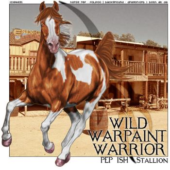 Wild Warpaint Warrior by frisbee-horseland