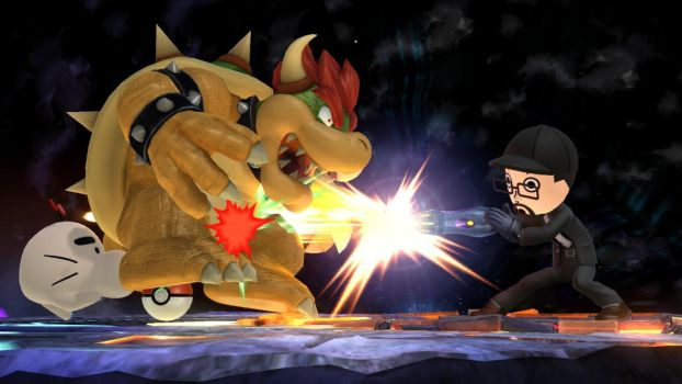 SSB4 - Nostalgia Critic VS. Bowser by jared33
