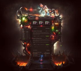 Fusion Game Web Template by DKartsStudio