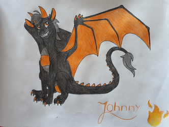 Johnny The Dragon by IVISEK