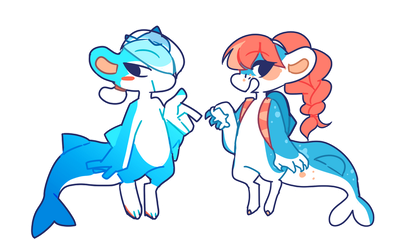 [R] Sharky Beans + Perfaunt! by scarletscreations